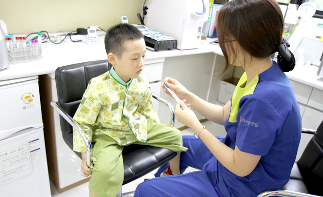 진아동병원 호흡기검사